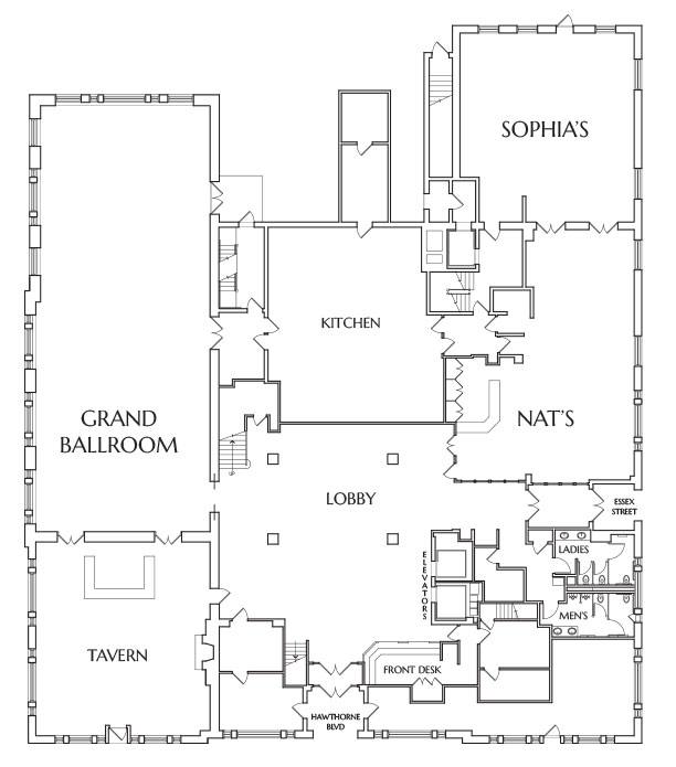 1st-floor - Hawthorne Hotel