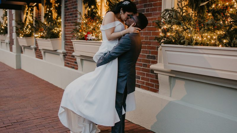 Couple who just got married